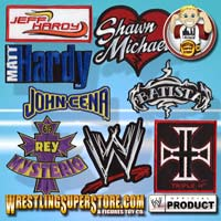 WWE Stickers/Patches/Buttons
