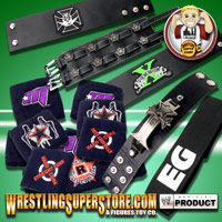 WWE Leather Cuffs, Armbands & Sweatbands