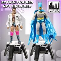 Solar Powered Rotating Wrestling Action Figure Display