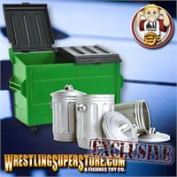 Trash Cans & Dumpsters for Wrestling Action Figures