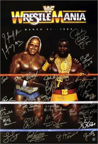 Signed Wrestlemania One 24 X 36 Poster With 35 Signatures