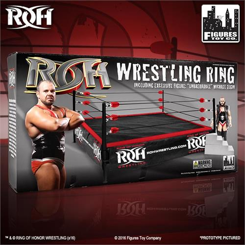 Ring Of Honor Wrestling Action Figure Ring With Exclusive