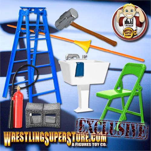 Wrestling Figure Hardcore Gear Special 26 Piece Deal For