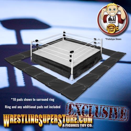 Set Of 10 Black Wrestling Ring Floor Mats For Wrestling