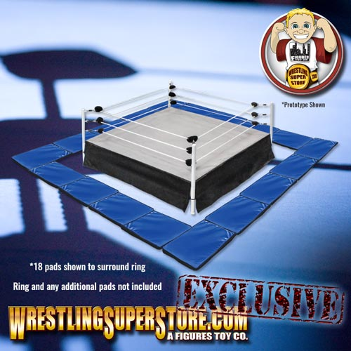 Set Of 10 Blue Wrestling Ring Floor Mats For Wrestling