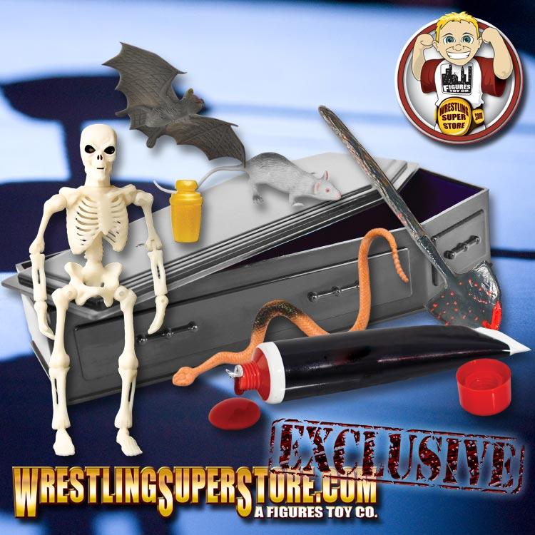 Black Commentator Table Playset For WWE Wrestling Action figures