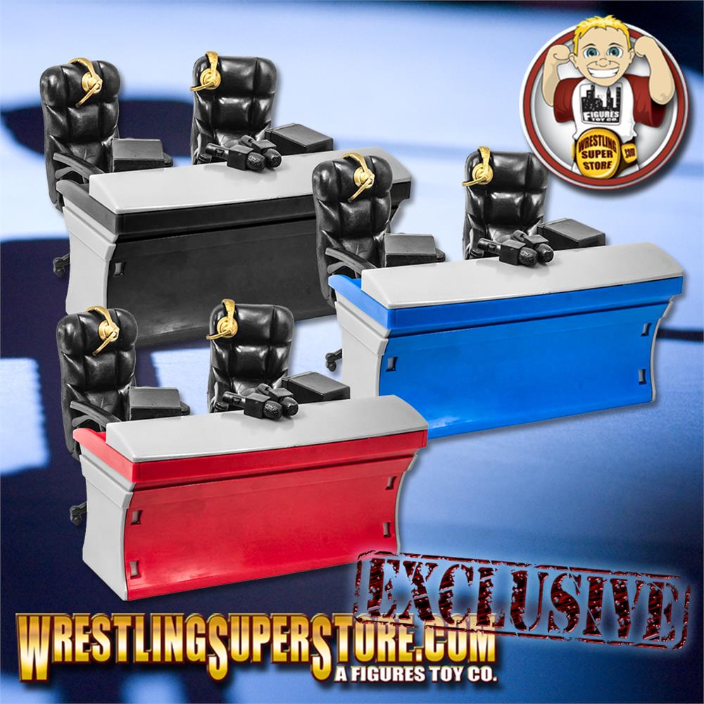ULTIMATE Blue /& Gray Commentator Table Playset for WWE Action Figures