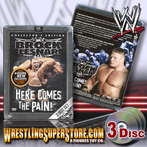 WWE Collectors Edition Brock Lesnar Here Comes The Pain DVD