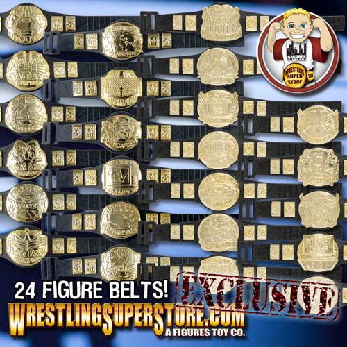 complete set of 24 championship belts for wwe wrestling action