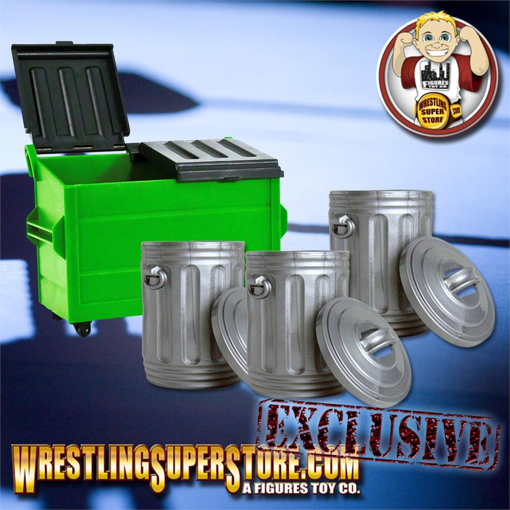 Glow in The Dark Plastic Toy Dumpster for WWE Wrestling Action Figures