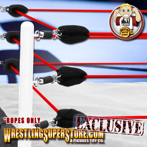 Red White /& Blue Ring Ropes for WWE Wrestling Action Figure Rings