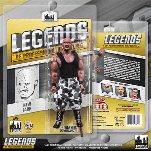 Jim Cornette Legends of Professional Wrestling Série 1 action figures