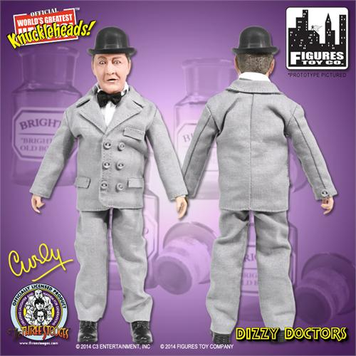 Dizzy Detectives Set of all 4 The Three Stooges 8 Inch Action Figures