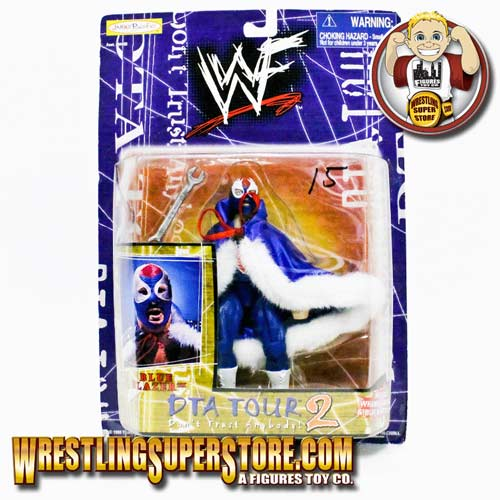 WWE Jakks DTA Tour 2 The Blue Blazer (Owen Hart) Action Figure