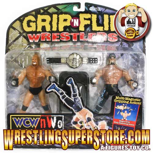 Grip n Flip wrestlers Hulk Hogan and Goldberg