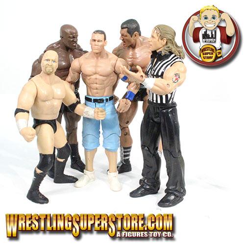 Set Of 5 Loose WWE Figures: Steve Austin, Bobby Lashley
