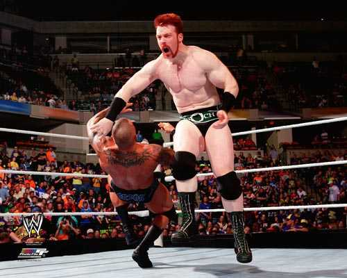 Clotheslining Amazing WWE Sheamus Clotheslining Randy Orton 60 By 60
