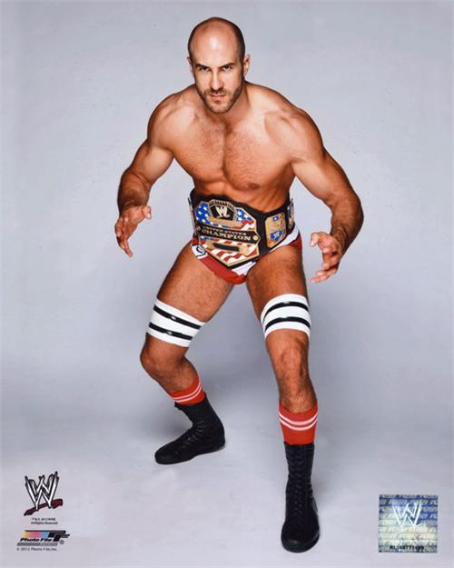 WWE Antonio Cesaro Holding US Championship Belt Studio