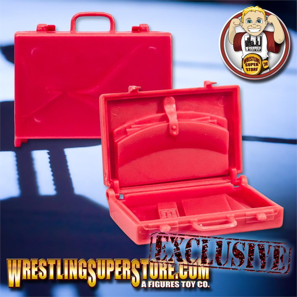 Set of 3 Black Briefcases for WWE TNA Wrestling Action Figures