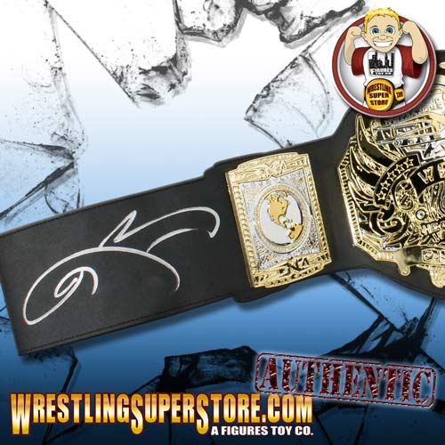 Jeff Hardy Autographed TNA World Heavyweight Championship Toy BeltWorld Heavyweight Championship Jeff Hardy