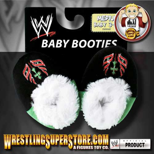 WWE REY MYSTERIO BABY BOOTIES SMALL 0-3 MONTHS OLD,NEW