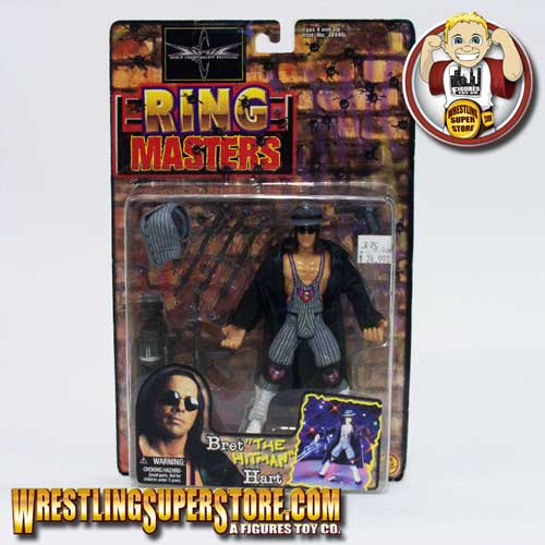 Wcw Ring Master Series Bret Hart Action Figure By Toybiz