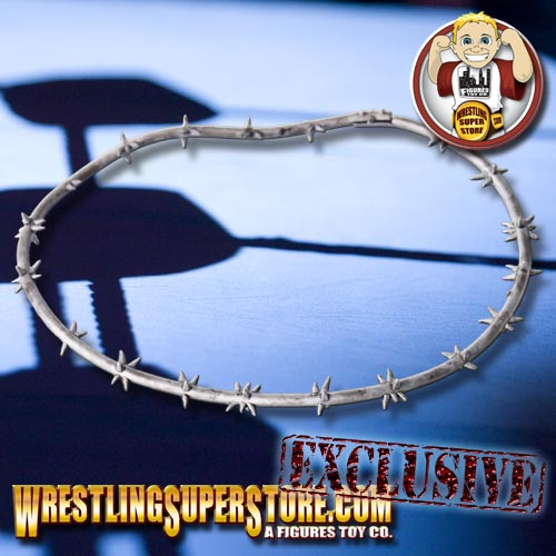 Silver Barbed Wire Sections For Wrestling Figures