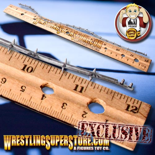 12 Pc Silver Barbed Wire Sections For Wrestling Figures