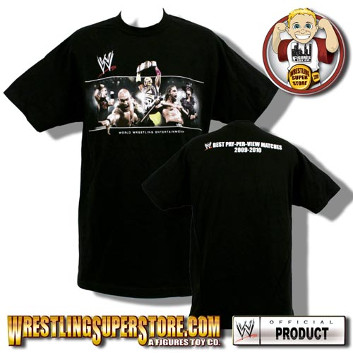 WWE Best PPV Matches of 2009-2010 DVD Cover Adult Size T-Shirt