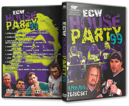 ECW House Party 1999 DVD  Sabu Ecw T Shirt