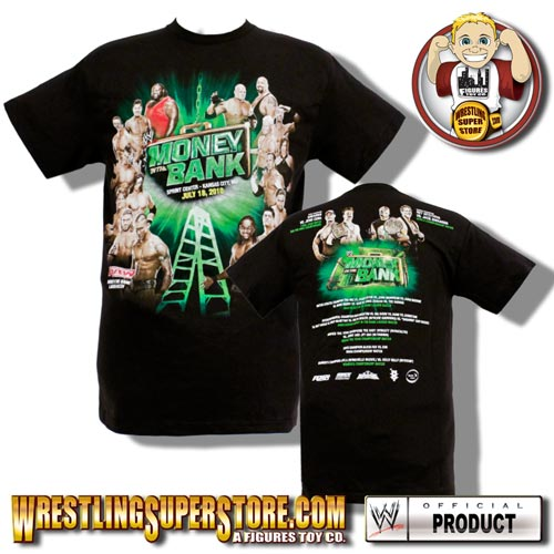 WWE Money In The Bank 2010 PPV Adult Size T-Shirt