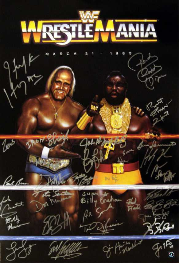 Signed Wrestlemania One 24 X 36 Poster With 35 SignaturesWrestlemania 24 Poster