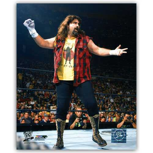 wwe mick foley 8 by 10 full color photo