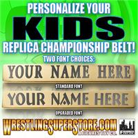 Personalized Nameplate for WWE Kid Size Replica Championship Belts