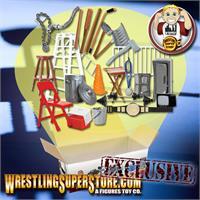 Large Weight Set /& Dumbell Set for WWE Wrestling Action Figures