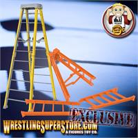 Set of 2 Large 10 Inch Breakaway Black Ladders for WWE Wrestling Figures