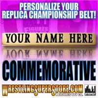 WWE Commemorative Belt Personalized Nameplates