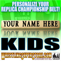 WWE Kid Size Personalized Nameplates